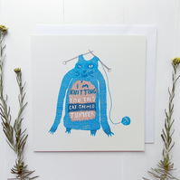 Greeting Card - Funny Knitted Jumper