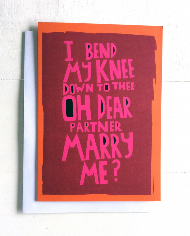 Engagement card - MARRY ME...