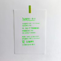 Sunday Best Cyclist Screen Print - GREEN