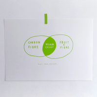 'Regular' Venn Cyclist Screen Print - GREEN