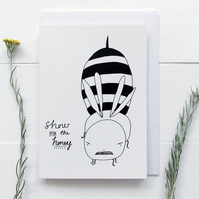 Show Me The Honey Funny Bee Greeting Card
