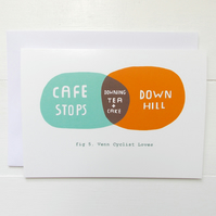 Venn Cyclist Tea & Cakes Cafe Stops Card