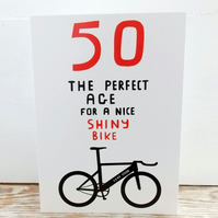 Age 50 Birthday Card for Cyclists
