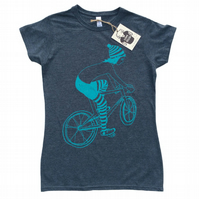 Women's T-shirt - Biker Girl - Slate Grey