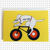 Great Chops Cycling Greeting Card