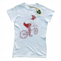 Women's T-Shirt CUTE BIKER GIRL