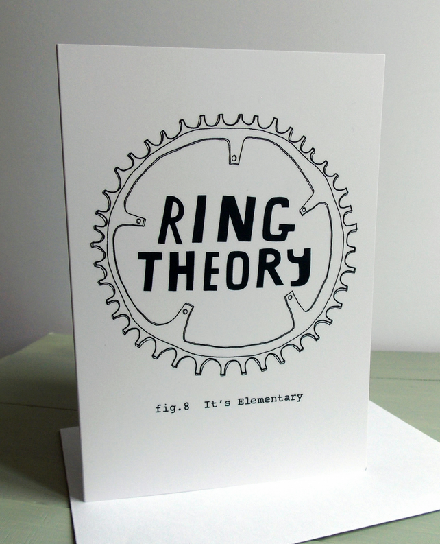 Funny Cycling Card - Ring Theory - It's Elementary