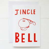5 Pack of Jingle Bell Christmas Cards