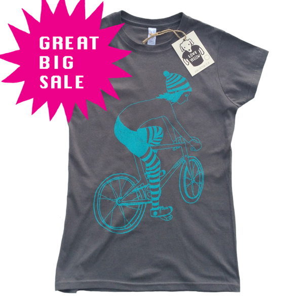 SALE Women's T-shirt - Biker Girl - Charcoal
