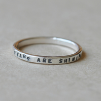 Stars are shining bright above you, sterling silver ring