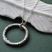 Ancient Circle Silver Pendant