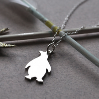 Penguin Pendant in Sterling Silver
