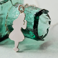 Alice in Wonderland Silver Pendant