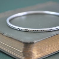 Silver Stacking Bangle, Finding Neverland