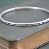 Silver Snow White Bangle