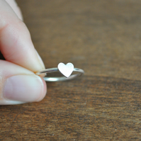 SALE Silver Sweet Valentine Heart Ring