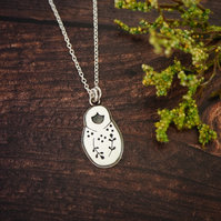 Silver Babushka necklace