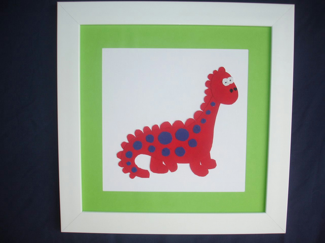 Appliqued picture for a boys room