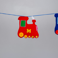 Personalised Train bunting Free postage within the uk