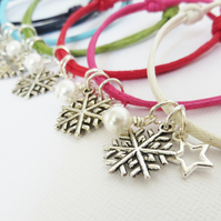 Christmas Snowflake Friendship Bracelet