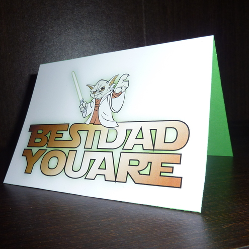 fathers day star wars yoda card