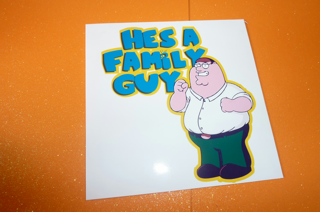 Fathers Day Cheeky Peter family guy Card - Folksy