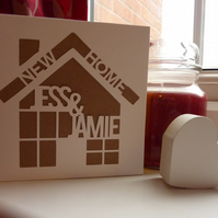 Personalised new home cut out card