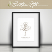Fingerprint Tree Personalised Print