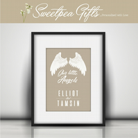Little Angels Personalised Print
