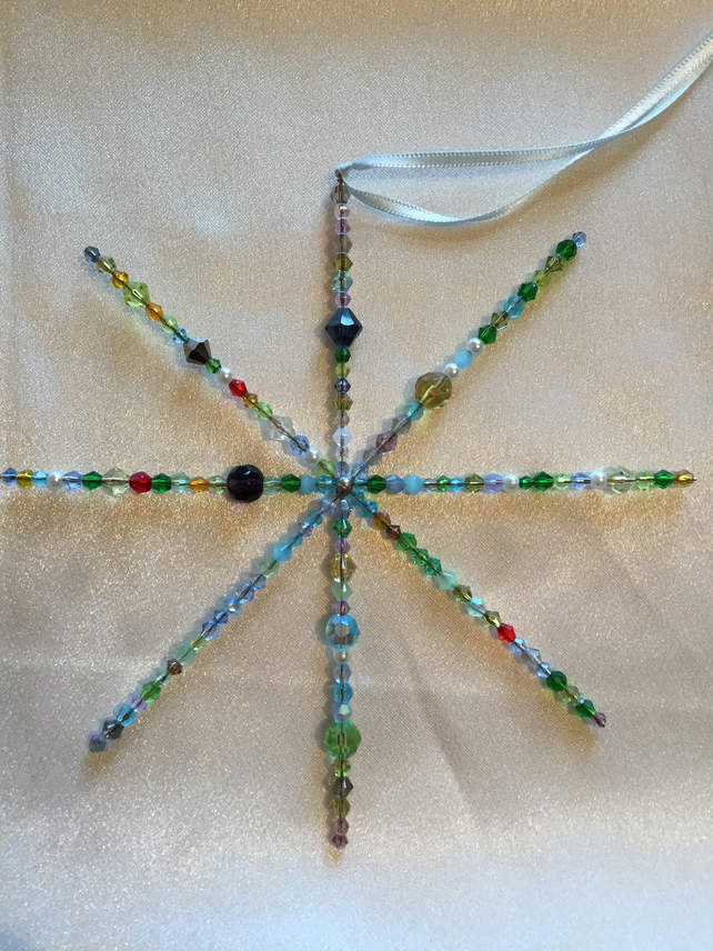 Gorgeous Multicoloured  bead decorated Hanging Star