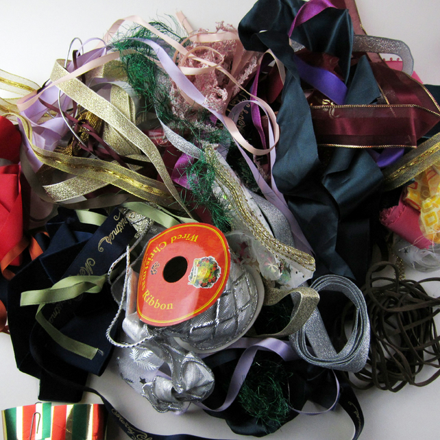 Big Bag of Mixed Ribbons Lots of colours Great Price