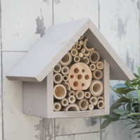 Bee and Insect Hotel, Single Tier, in 'Muted Clay'.