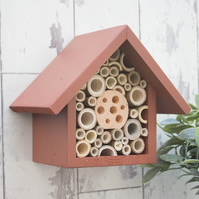 Small Bee and Insect House in Brown.