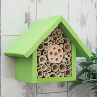 Single Tier Bee Hotel in 'Sunny Lime'
