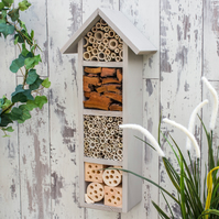 Bee House, Insect Hotel, Bee Hotel, in Muted Clay