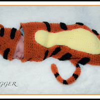 Crochet Tigger Hat and Cocoon Set