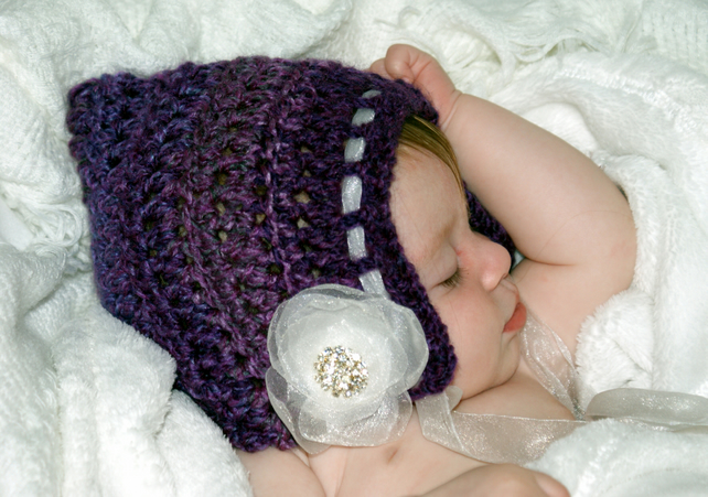 Crochet Deluxe Pixie Bonnet 10% SALE ON ALL RTS ITEMS