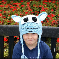 Childrens  Crochet Moonchester or Moonbeam Inspired Soccer Mascot Hat.