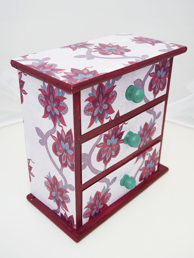 Red Floral Jewellery Box