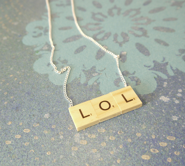 'LOL' Scrabble Pendant
