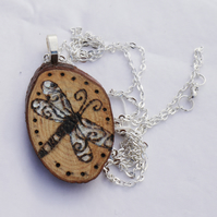 Dragonfly Wooden Pendant