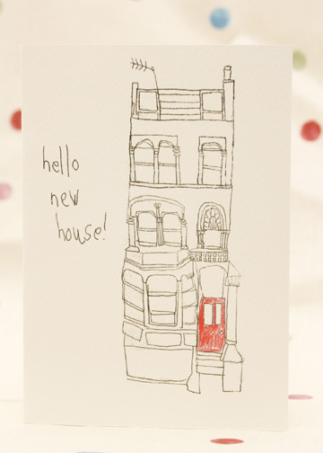 'Hello New House' card
