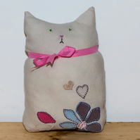 Smooshie Little Cat made from Upcycled Textiles
