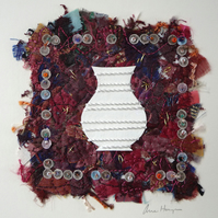 'Lotherton China' original textile art, unframed