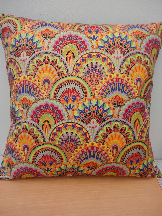 New Funky Retro Multi Coloured Cushion Cover Folksy