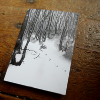 Blank Greeting card - 'Little Rabbit in the Big Wood' perfect greeting card