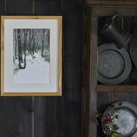 Limited Edition 'Little Rabbit in the Big Wood' mounted print.