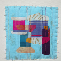 "THREADS FABRIC ART picture. ""Threads and Yarns"" a contemporary textile picture"