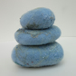 HAND FELTED PEBBLES  Abstract sea and beach in blue and turquoise