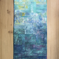 SEA VIEW ABSTRACT QUILTED WALL HANGING. A picture of the ocean, sea and sky